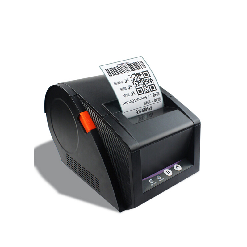 High speed 2-5 inches /s thermal label printer Thermal barcode printer can print paper between 20mm-82mm  support QR code 2017 new arrived usb port thermal label printer thermal shipping address printer pos printer can print paper 40 120mm