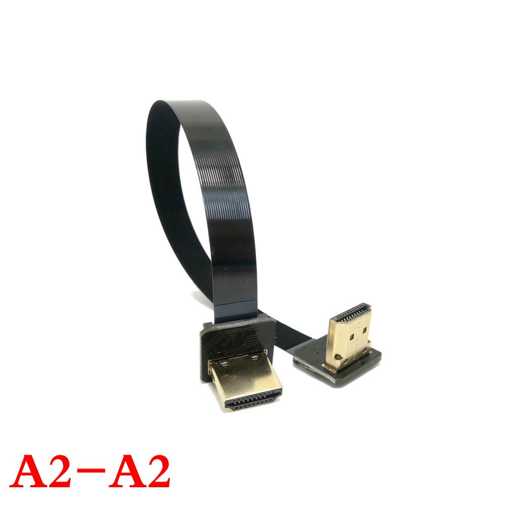 FPV HDMI Type A Male Female to Down UP Angled 90 Degree HDTV FPC Flat Cable for Multicopter Aerial Photography 10cm 100cm in Computer Cables Connectors from Computer Office