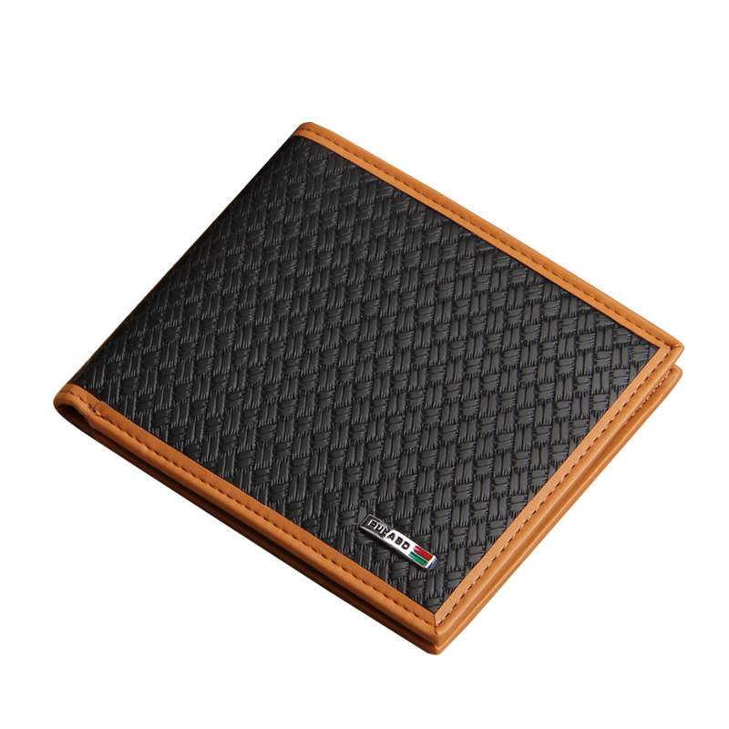 Fashion New style Men Wallets Soft Knitting Pattern Casual 4 Colors Quality PU Leather Credit Card Holder Wallet Free Shipping lorways 016 stylish check pattern long style pu leather men s wallet blue coffee