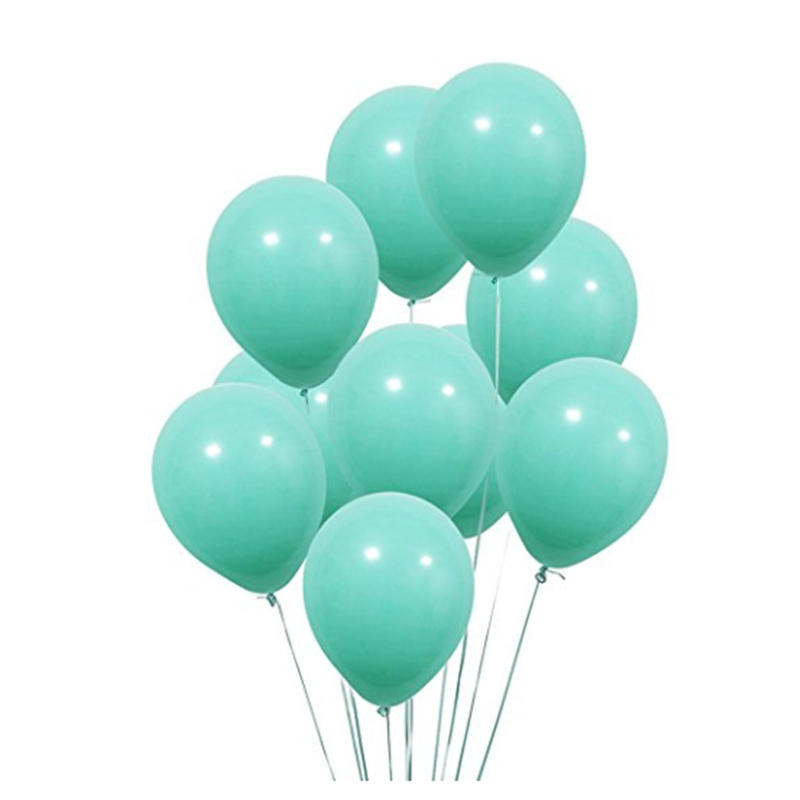 Turquoise Thick 10pcs 12inch Thick 2.2g Wedding Decorations Latex Balloon Happy Birthday Party Ballon Inflatable Helium Supplies