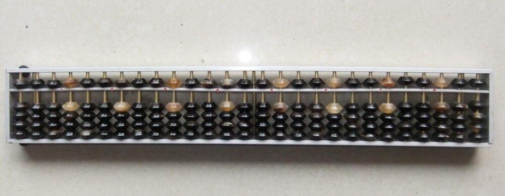 27 Abacus en aluminium de haute qualité avec perles en corne de boeuf outil de soroban chinois en mathématiques pour étudiant XMF019