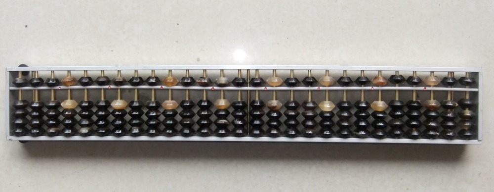 27 column High quality aluminium Abacus with OX horn beads Chinese soroban Tool In Mathematics Education for student XMF019 pierre lannier pierre lannier 014g900