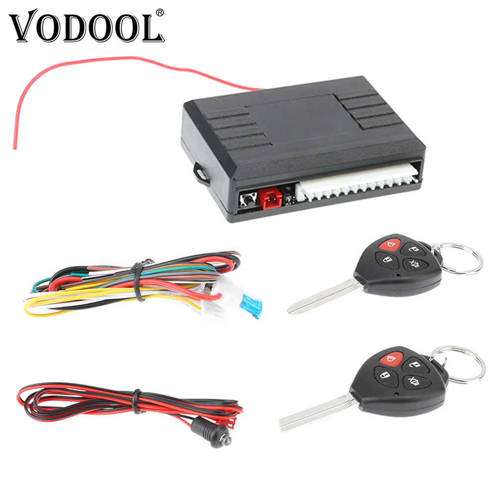 Universal Car Alarm Systems Auto Remote Central Door Locking Vehicle Keyless Entry System Kit 12V with Remote Control