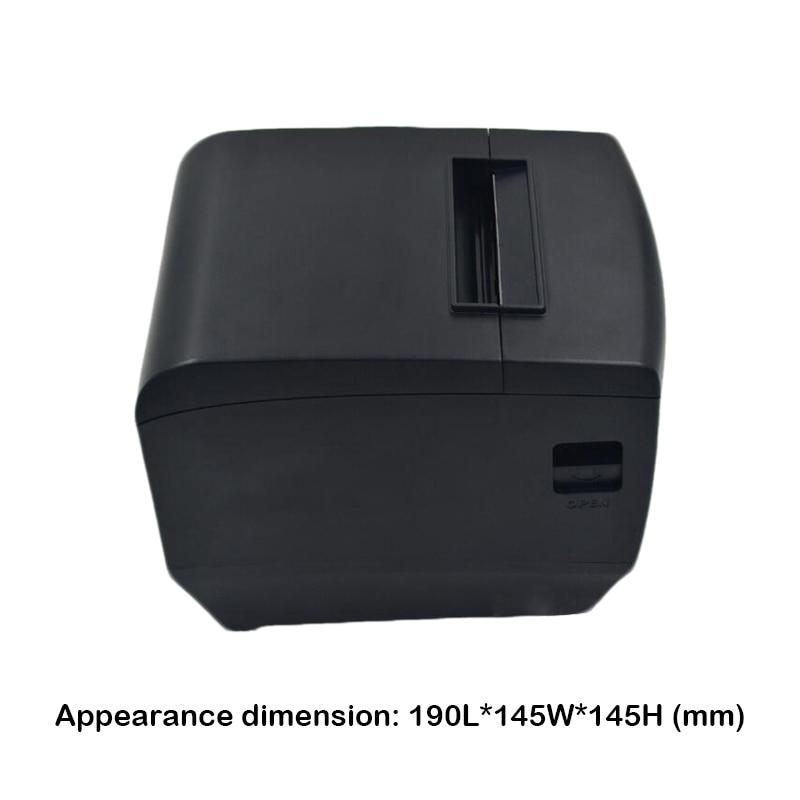 Горячая Распродажа 80 мм термальность чековый принтер usb и lan порты разъёмы impressora Поддержка проводной несколько Компьютер печати - 5