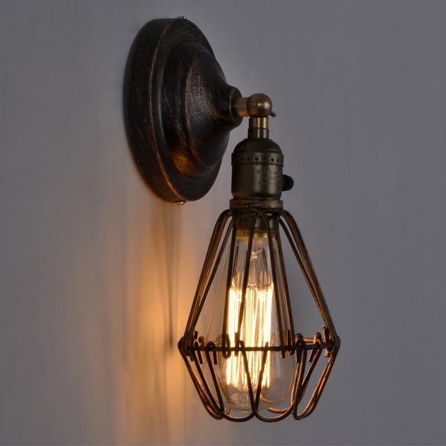 EuSolis Loft Vintage Wand Lampe Lampenschirm Eisen Birdcage Applique ...