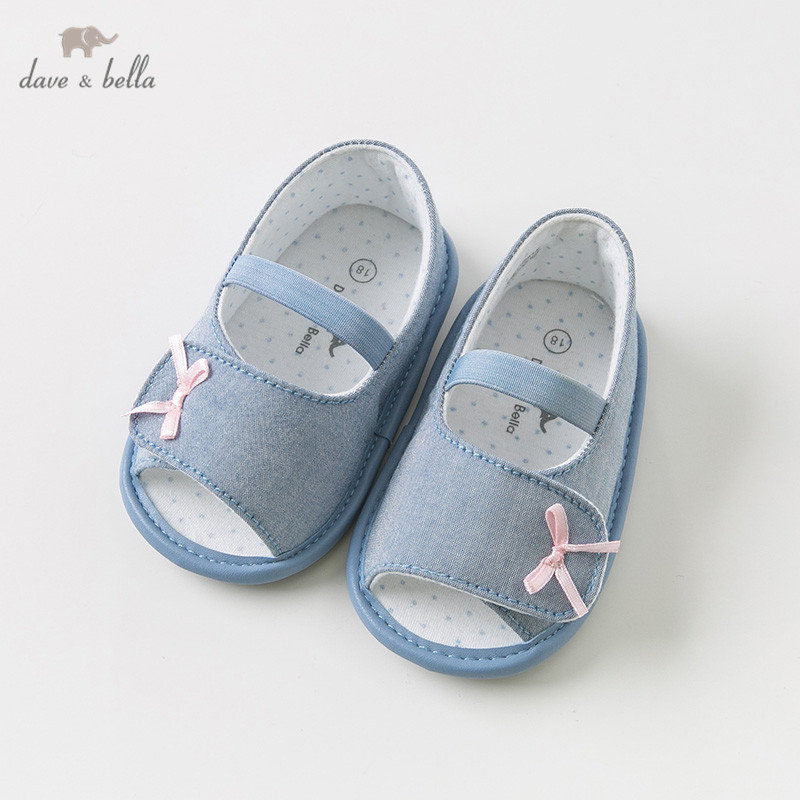 DBH10818 Dave Bella summer baby girl sandals new born prewalkers infant shoes with bowsDBH10818 Dave Bella summer baby girl sandals new born prewalkers infant shoes with bows