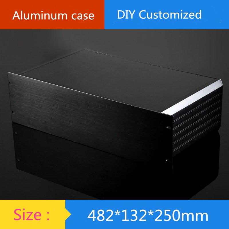 250-depth 19-inch standard 3U instrument aluminum chassis amplifier aluminum shell / case / shell / DIY box globe shaped aluminum shell precise compass