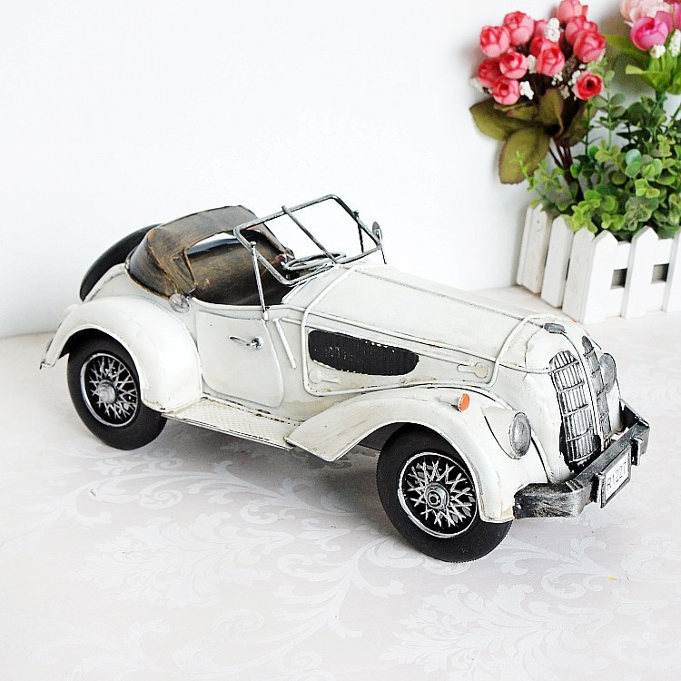 8625 Retro Vintage Car Model Convertible Home Table Ornaments Creative Gift car ornaments solar airplane model aircraft interior model car gift ideas