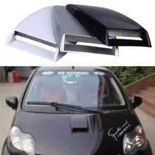 Автомобиль Стайлинг Универсальный Наклейки для автомобиля Автомобильная декоративная поток воздуха впуска капоте Turbo Бонне Vent Обложка черный/серебристый/белый капюшон украсить