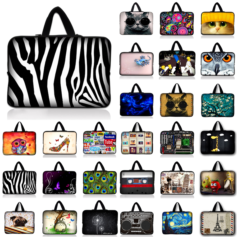 Neoprene Laptop Sleeve 15.6 Computer Bag 10 11.6 13.3 14 15.4 17.3 inch Handle Laptop Bag PC Protective Case For ASUS HP Acer