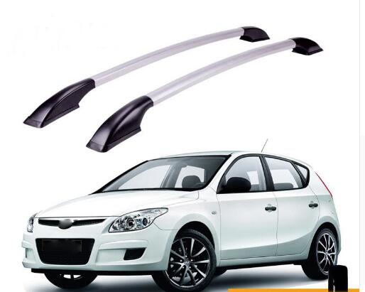 FUWAYDA length 1.3m car STICKERS Roof Rack Boxes Side Rails Bars Luggage Carrier A Set For Hyundai I30 2009 2010 2011 2012 2013 decorative side bars rails roof rack silver fit for 07 12 nissan qashqai dualis 2007 2008 2009 2010 2011 2012 2013