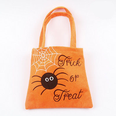 Halloween Loot Party Pumpkin Trick or Treat Tote Bags Kids Child Candy Bag Toy