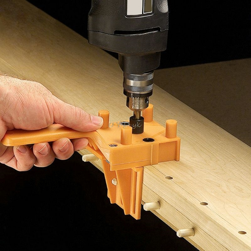 Handheld Woodworking Doweling Jig Drill Guide Wood Dowel Drilling Hole Saw Accessories