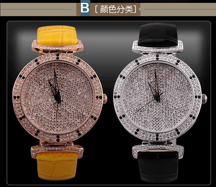 Fashion Starry Series Women Full Crystals Dress Watches Davena Simple Designer Quartz Wrist watch Real Leather Relojes WA005