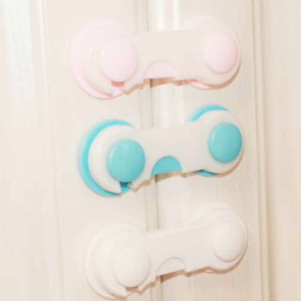 Plastic Cabinet Lock Child Safety Baby Protection For Children Locking For Refrigerators Kids Security Drawer Latches Dropship