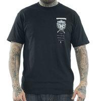 Sullen Men's Black Hip Hop Skull Clothing Apparel Tops Quality T Shirts Men Printing Short Sleeve O Neck