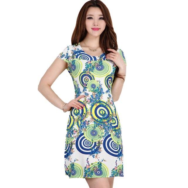 723a3da4e89 Vestidos 2016 Women Summer Dress Slim Milk Silk print Floral sundress Casual  summer style Plus Size Sexy Bodycon Dresses L912