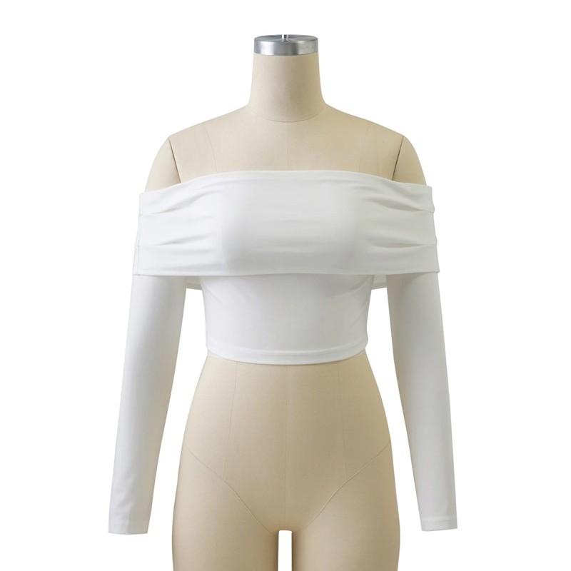 HTB1dCgaOFXXXXXmaVXXq6xXFXXXs - Women Slash Neck Off Shoulder Crop Top Long Sleeve Sexy JKP024