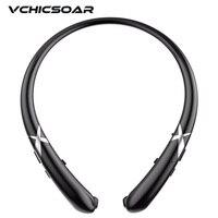 Vchicsoar HW911 Sports Running Bluetooth Headphone V4 1 Wireless Headset Stereo Bass Full Silicone Neckband Headphones