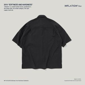 Image 5 - قميص غير رسمي قصير الأكمام ذو علامة تجارية كبيرة الحجم قمصان رجالي بجودة عالية ملابس خروج 2020 ملابس رجالية 9235S