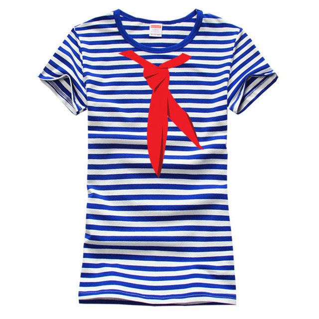 Blue White Stripes Sea Striped Shirt Onlykiss T shirt Vintage Red ...