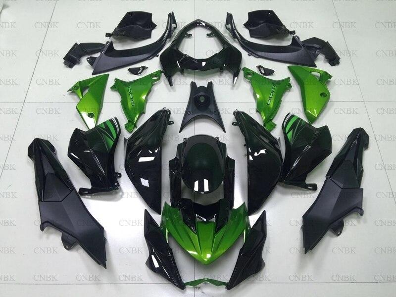 for Z 800 2013 2016 Plastic Fairings for Kawasaki Z800 2014 Green Black Plastic Fairings for
