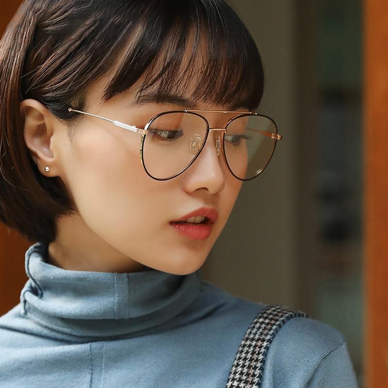 Brillenrahmen Herren-brillen Ernst Cubojue Frauen Gläser Rahmen Luftfahrt Brillen Frau Grad Rezept Brille Dekoration Mode Brillen Klare Linse