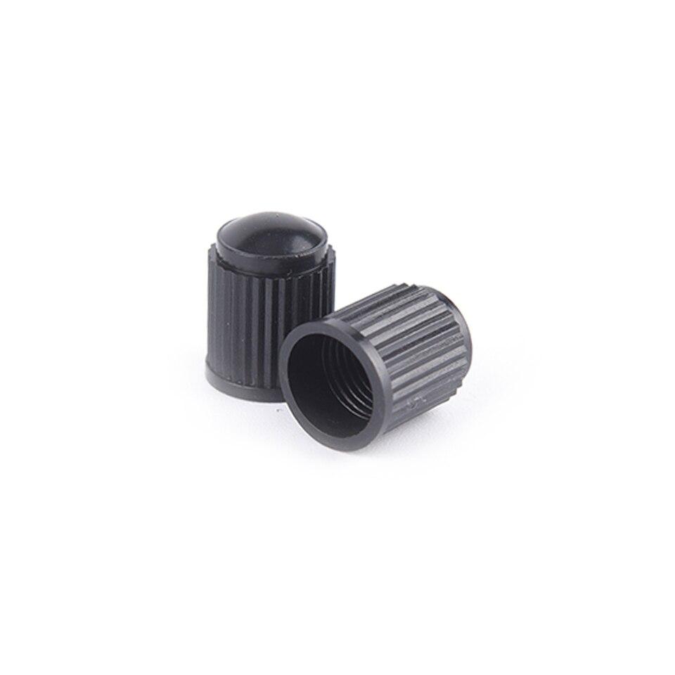 100pcs//lot Black Plastic Dust valve caps bike car wheel tyre air valve stHFFS