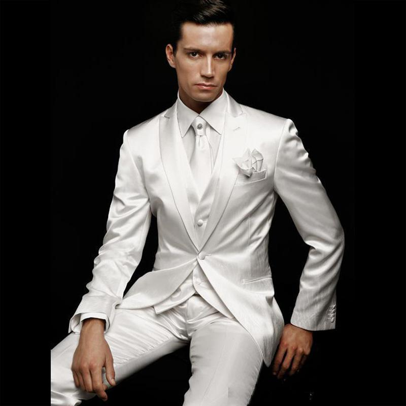 Popular White Wedding Tuxedos for Men-Buy Cheap White Wedding ...