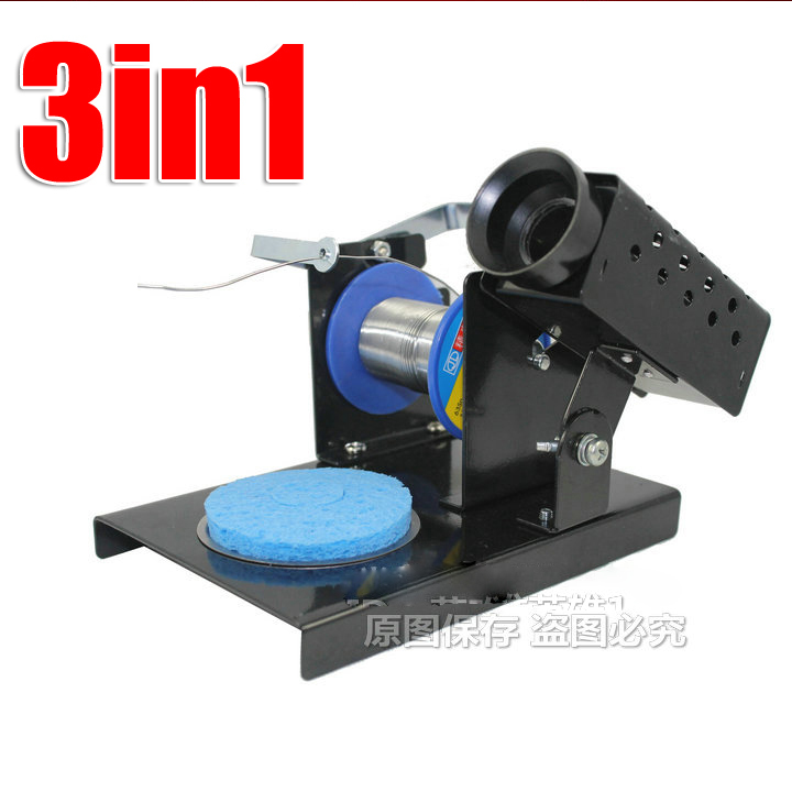 Free shipping 3 in1 (electric soldering iron) Solder Iron Holder+solder stick Holder+ Sponge Tray (Solder Iron Stand )