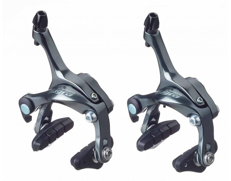 Shimano Tiagra BR-4600/4700 Road Bike Brake Caliper Set Pair SILVER COLOR Front&Rear