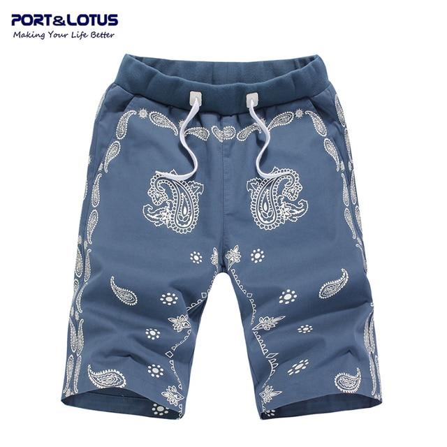 Brand new casual 100% cotton summer print fashion active men board shorts 055 bermuda masculina shorts homme wholesale
