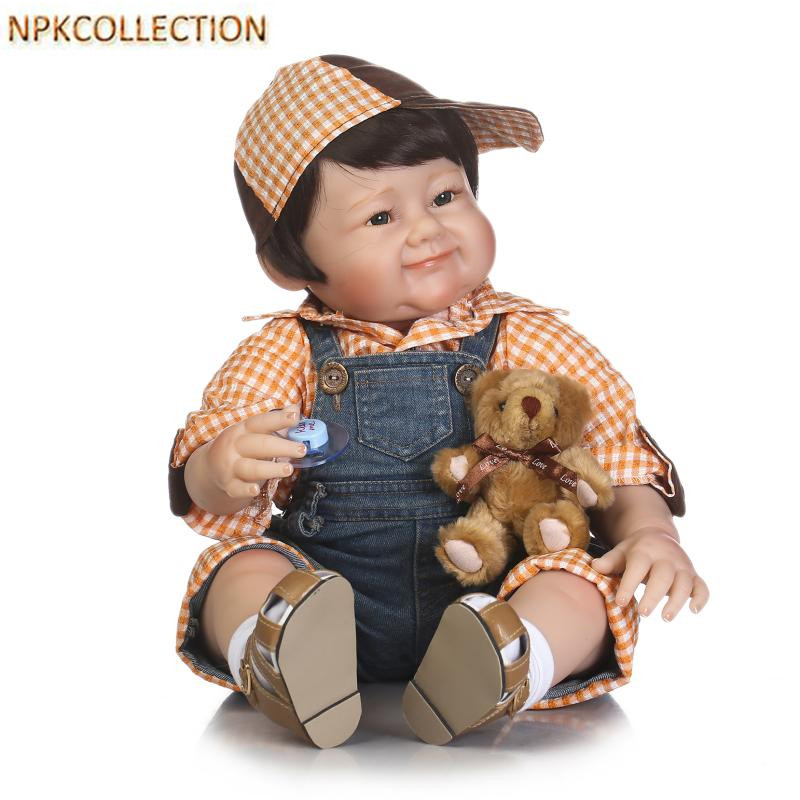 NPKCOLLECTION 50 CM Real Dolls Baby Alive Bonecas Realistic Silicone Reborn Dolls Soft Toy for Girls Birthday XMAS Gift juguete npkcollection 50 cm real dolls baby alive bonecas realistic silicone reborn dolls soft toy for girls birthday xmas gift juguete