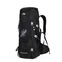 Фотография Waterproof Travel Hiking Backpack 70L Sports Bag  Women Men Outdoor Camping Climbing Bag Mountaineering Rucksack
