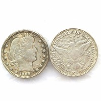 90 Silver 1909 Barber Quarter Dollars Retail Wholesale USA Copy Coins