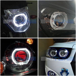 Image 5 - Lentilles pour phares ange diable Eyes Mini LED H1 projecteur 2.5 pouces Bixenon lentille Tuning H7 H4 voiture lumières accessoires rénovation