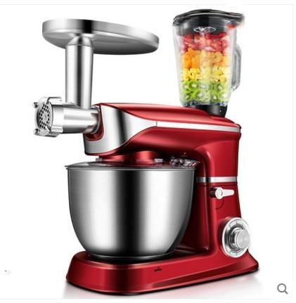1300W Bread Dough Mixer Eggs Blender 6.5L Kitchen Stand Food Milkshake/Cake Mixer Kneading Machine Dough Maker meat grinder
