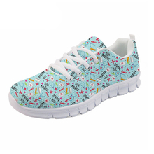 4ae737bcb8f7 NOISYDESIGNS Cute men Casual Sneakers flat Cartoon Nurse Pattern men s  Light Weight Breathable Mesh Shoes for