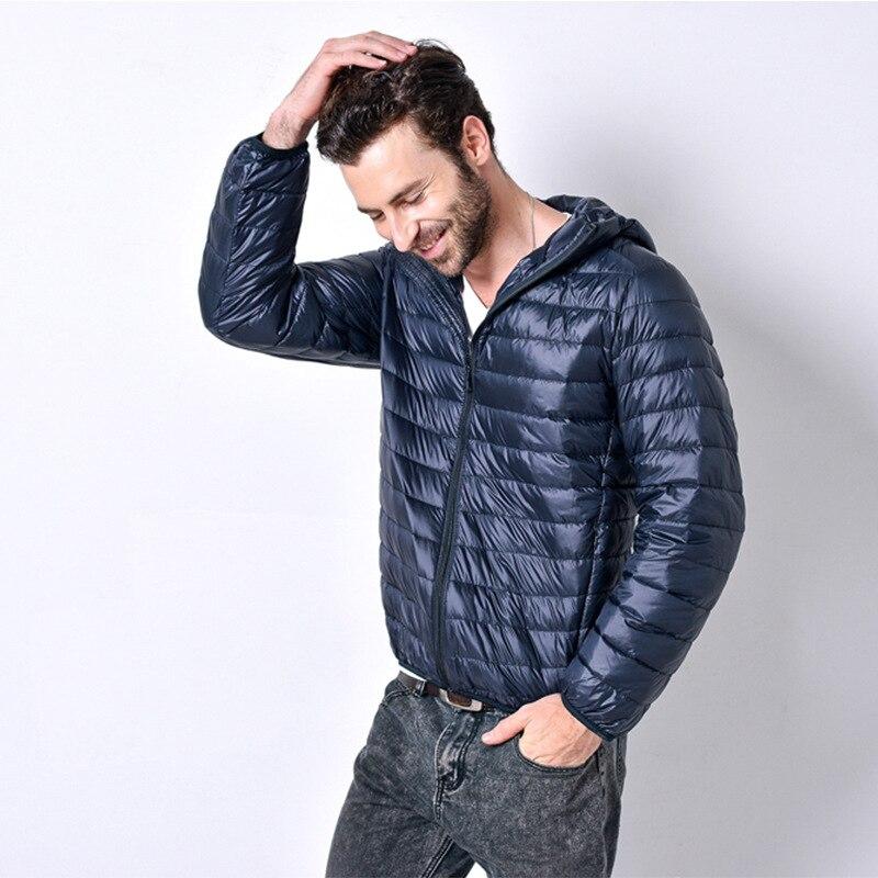 Men Casual Down Coat 2019 Winter New Male Slim Fit Comfortable Down Jacket Coat Men's Fashion Jackets Down Parka Coats