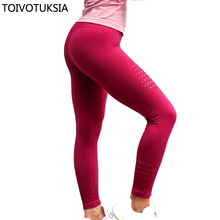 TOIVOTUKSIA High Waist Seamless Leggings Push Up Leggins Sport Women Fitness Pants Energy Gym