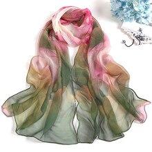 Модные женские шифоновые шелковые шарфы на весну и осень, 1 шт., квадратные шарфы из полиэстера, шали с цветочным принтом, летние шали, хиджабы S10 SE13