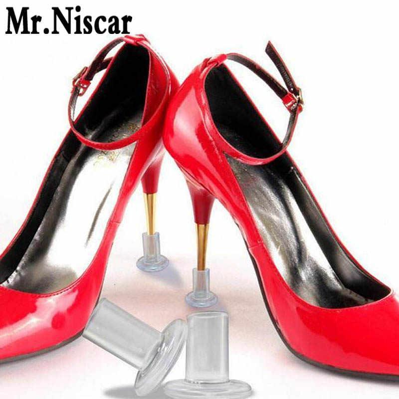 0f93419ea 1 пара обувь на высоком каблуке аксессуары круглая голова силиконовые Туфли  на каблуке протекторы по уходу