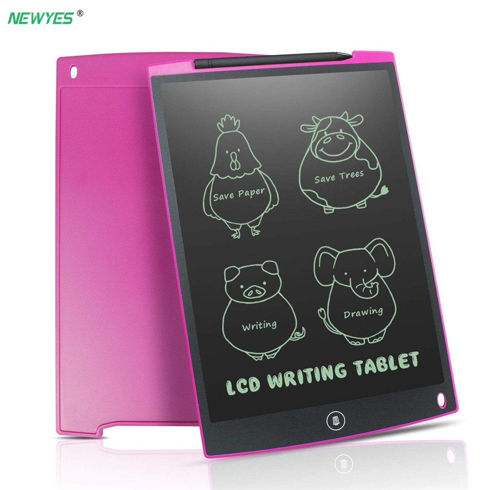 NeWYeS LCD Escrita Tablet 12 Polegada Eletrônico Digital eletrônico Gráficos Prancheta Rabisco Pad com caneta Stylus Presente para as crianças