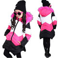 Girls Winter Jacket 2016 New Casual Long Sleeve Children's Outerwear Girl Thick Warm Parkas Kids Clothes