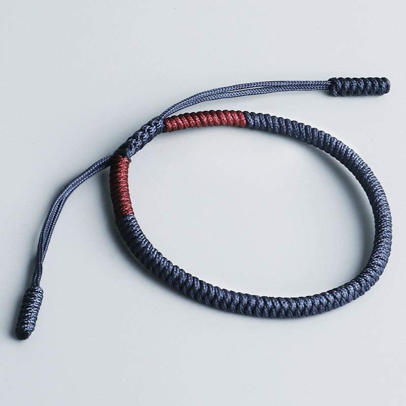 Handmade Tibetan Buddhist Lucky Rope Bracelet Men Loyalty Tibetan Buddhist Knots Size Adjustable Bracelet For Women