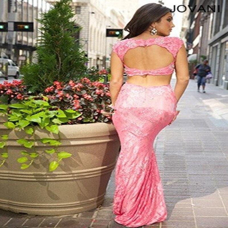Moda Dos Piezas Vestidos Baratos de Partido Del Cordón Vestidos de ...