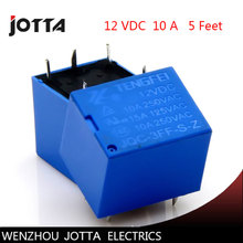 цена на Free shipping  5pcs/lot JQC-3FF-S-Z T73 12VDC  5 feet 10A /5 Pins RELAY  Coil Power Relay   form C electromagnetic relay