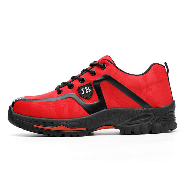 7bb9a59282e US $38.49 30% OFF|Fashion Men Safety Shoes With Steel Toe and Midsole PU  Leather Safety Boots For Men Breathable Casual Work Shoes Big Size 35 46-in  ...