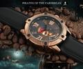 Hombres Steam Punk Cool Skull Pirata Ocasional Reloj que Los Estudiantes Niño Número Romano reloj de Goma Reloj de pulsera de Cuarzo Analógico Moda Relojes NW7098