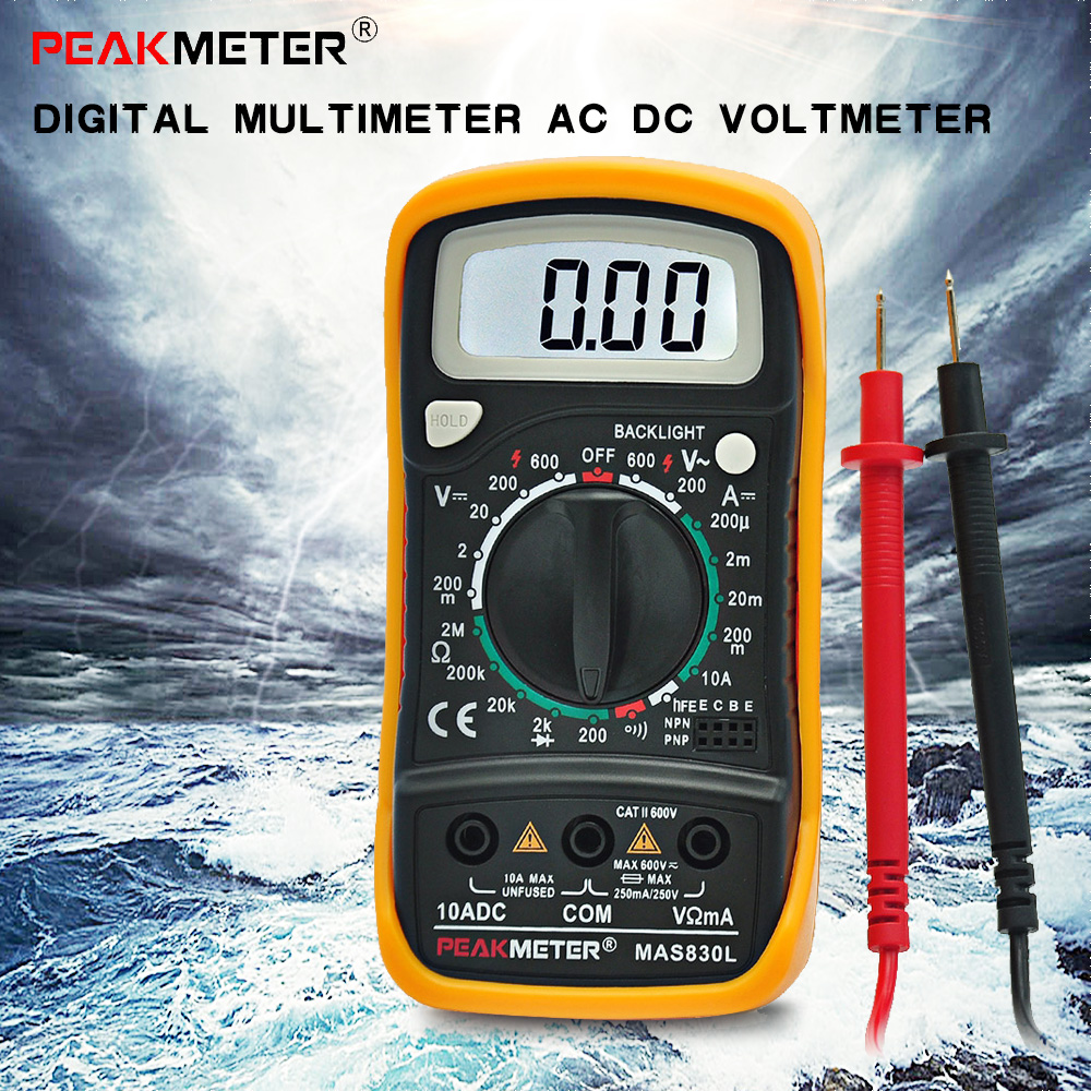 Ac Dc Voltmeter : Aliexpress buy high quality digital lcd multimeter